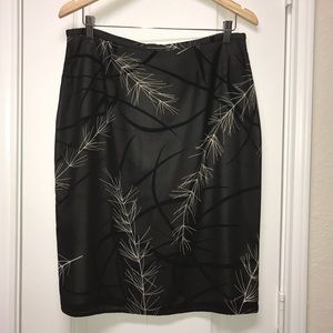 Express Fully Lined Printed Pencil Skirt EUC